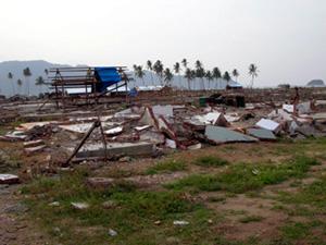 tsunami affected area