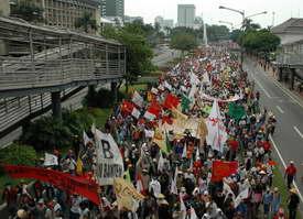 La Via Campesina and FSPI rally 2006 05 17