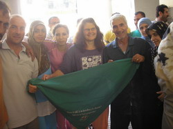 Via Campesina delegation with displaced farmers from South Lebanon