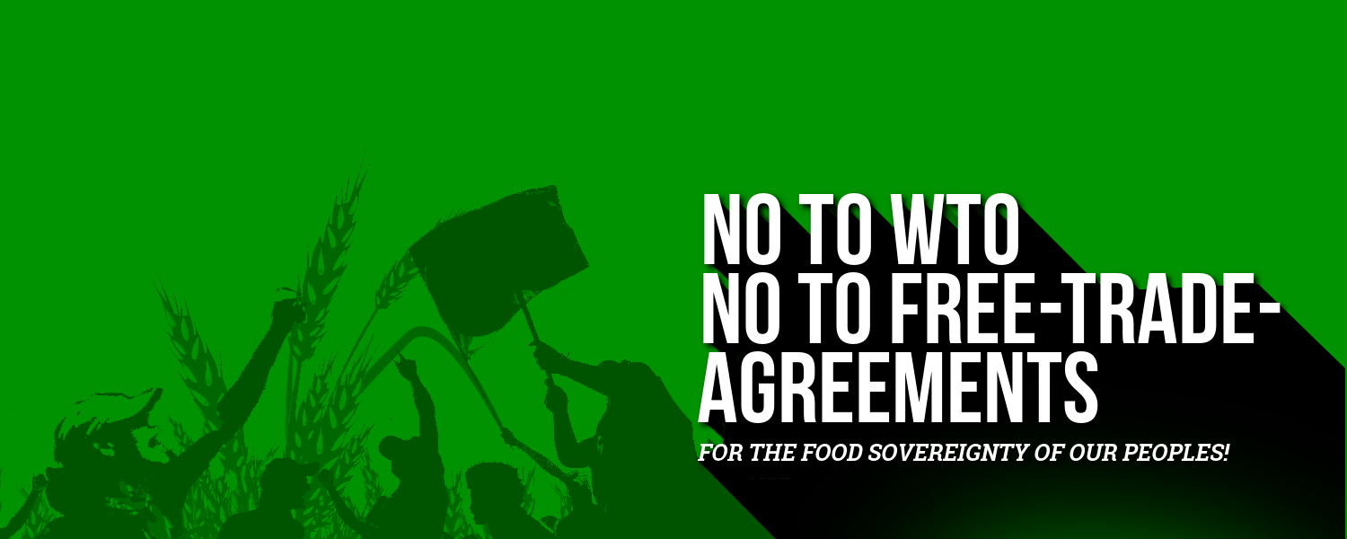 La Via Campesina Calls For A Global Week Of Action Against The Wto